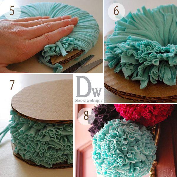 Мастер-класс:Помпоны из ткани | 4 сообщений | Handmade: свадьба своими руками на Невеста.info