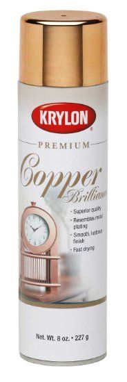 best copper spray paint - results look like real copper! ~ Krylon 1020A Premium Copper Metallic Brilliance Spray Paint 8 Ounce