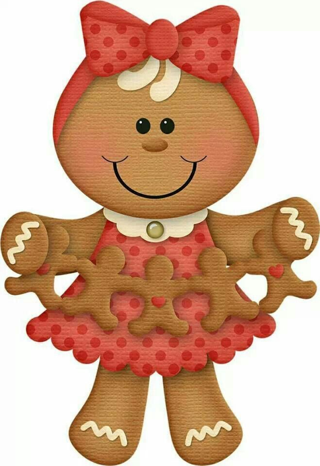 .Gingerbread with cutout gingerbread cookies