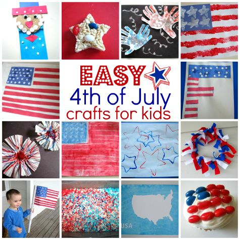 Easy 4th of July crafts for kids #IndependenceDay #FourthOfJuly