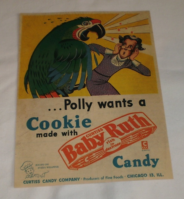 Vintage polly parrot shoe ad
