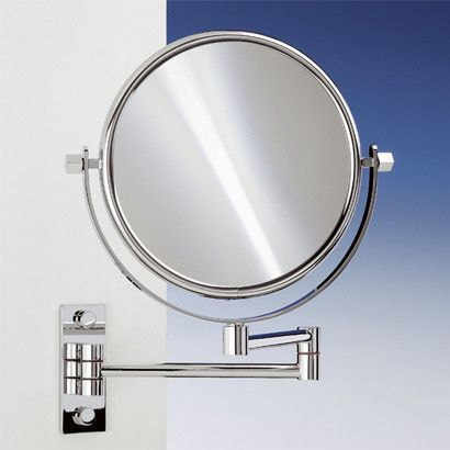 Wall Mounted Extendable Double Face Magnifying Mirror