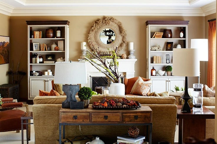 Fall Decor Napa Valley Style Home Living Rooms Pinterest