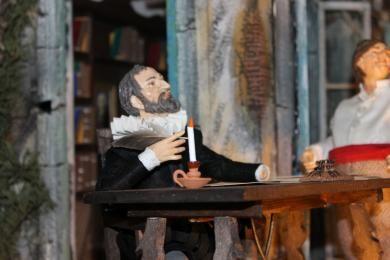 Cervantes, Sancho Panza y Dulcinea protagonizan un cameo en el nuevo Belén Napolitano de Cuenca - Detalles - Voces de Cuenca