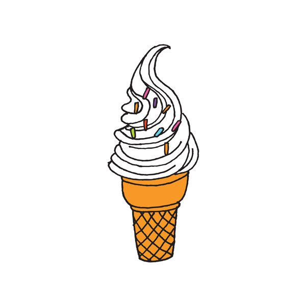 Summer Ice Cream Wallpaper: Soft Serve, Tattoo And