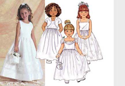 Butterick 3351 from Butterick patterns is a Girls\' flower girl dress sewing pattern