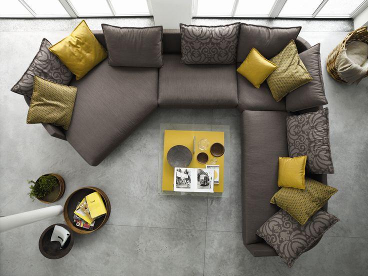 Top View Of A Rolf Benz Onda Sofa