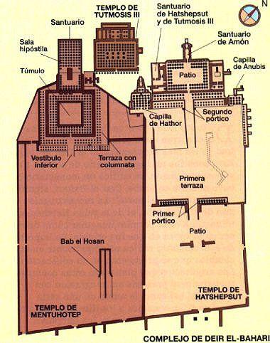 plano de tumbas y templos funerarios mentuhotep - Buscar con Google