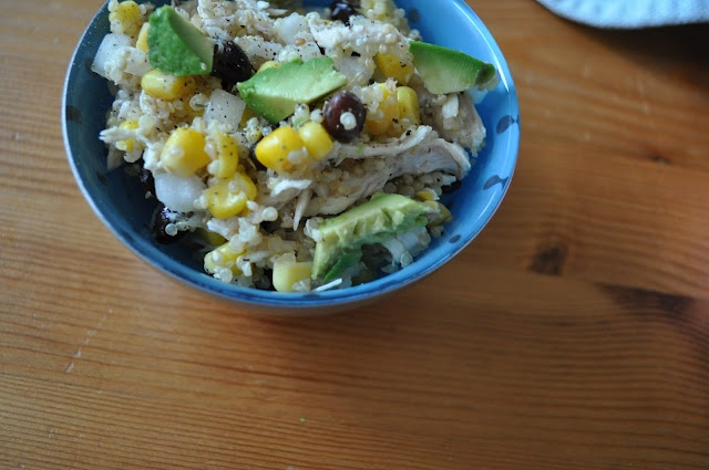 Chicken Avocado Quinoa Salad with or without strawberries | Eat, Drink ...