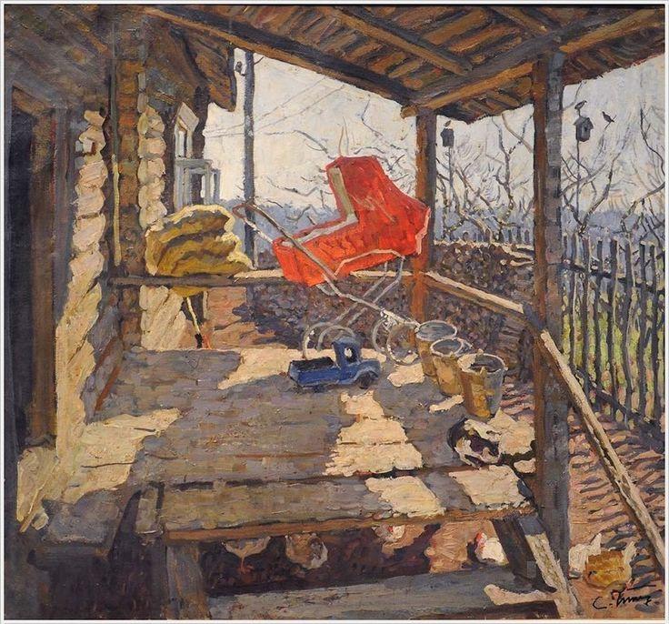 Ткачев Сергей Петрович (Россия, 1922) «Деревенское крыльцо» 1977