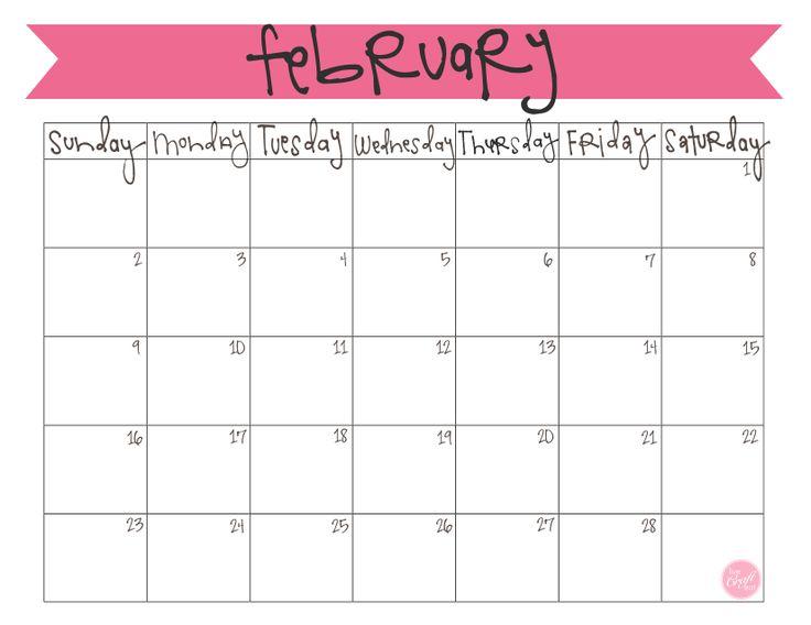 free printable february 2014 calendar   www.livecrafteat.com