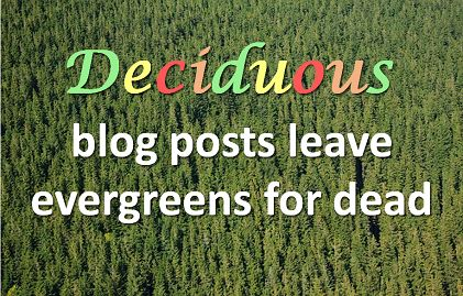 Why seasonal blog-posts do better in a social media world - and what to do about it.