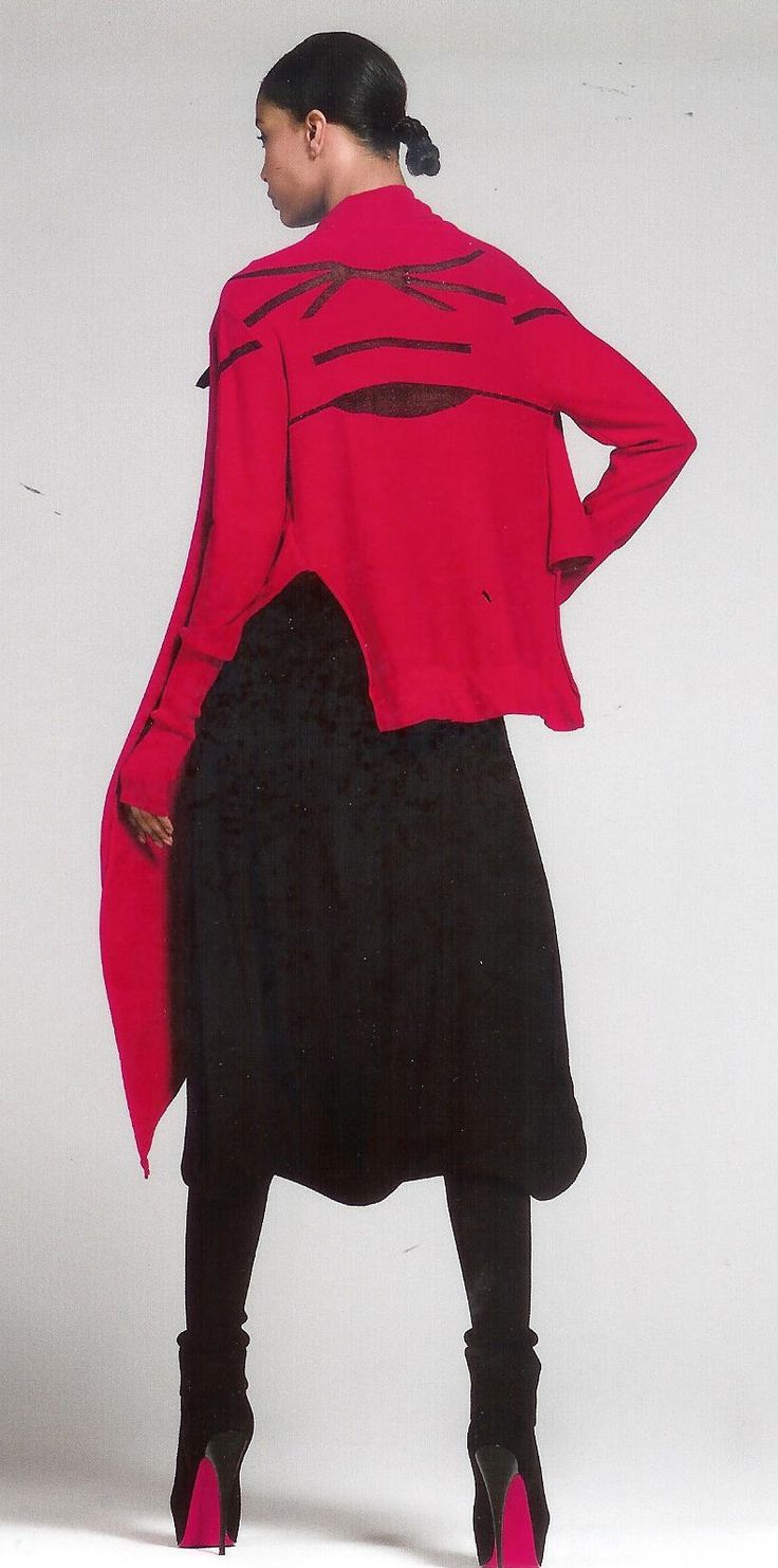 Typete, tøff og rød jakke fra Oblique