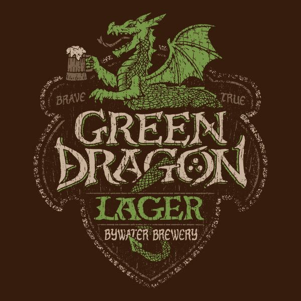 """Part of the """"Middle Earth Brews"""" series. """"The Only Brew for the Brave and True!"""" Hobbits of The Shire rejoice! Bywater Brewery's newest lager, named after the popular pub and inn, is here at last!"""