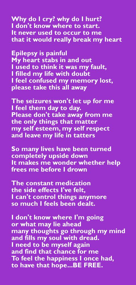 Amanda wrote this heartfelt poem about her epilepsy and shared it with us