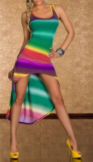 Summer Multicolor Chic Leg Free Maxi Dress