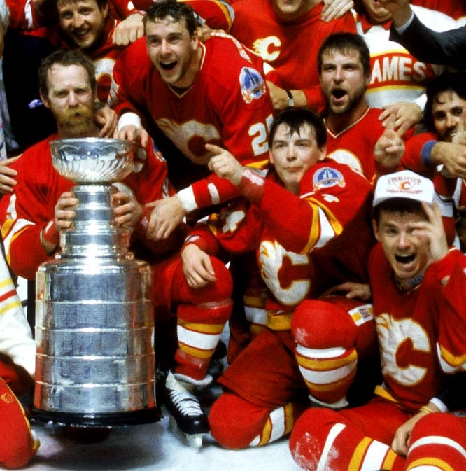 Calgary Flames. I remember the goal Lanny McDonald scored to win the Stanley Cup in '89. The memories.....