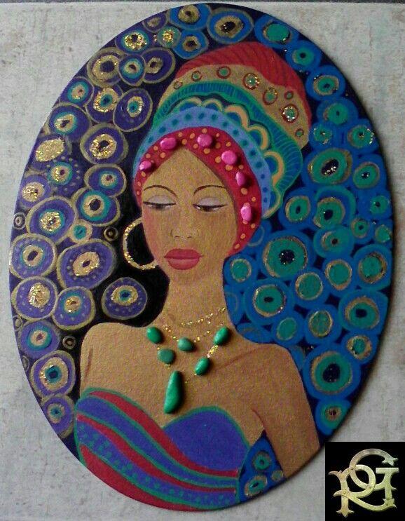 African Woman-Painted Stones di Rosaria Gagliardi