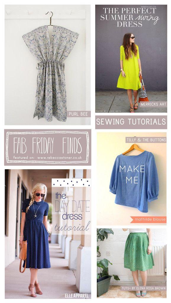 Fab Friday Finds - Week 17 - Sewing Tutorials on Rebecca Stoner www.rebeccastoner.co.uk