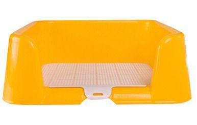 Healthy Puppy Dog Indoor Potty Training Holder Toilet Pad Potty Trays(Yellow)