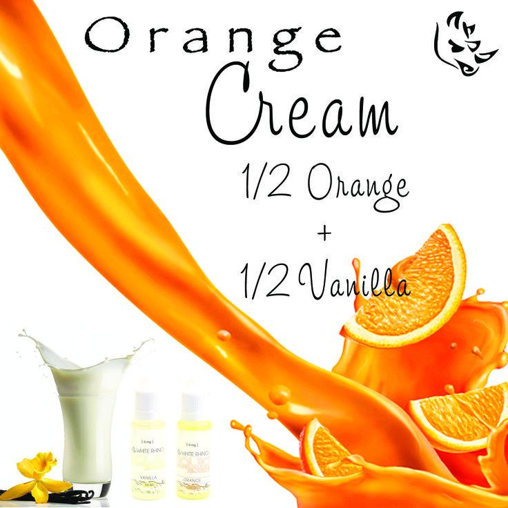 Orange Cream 1/2 Orange + 1/2 Vanilla #whiterhinolife #whiterhino #