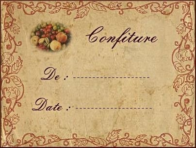 Etiquette confiture 6