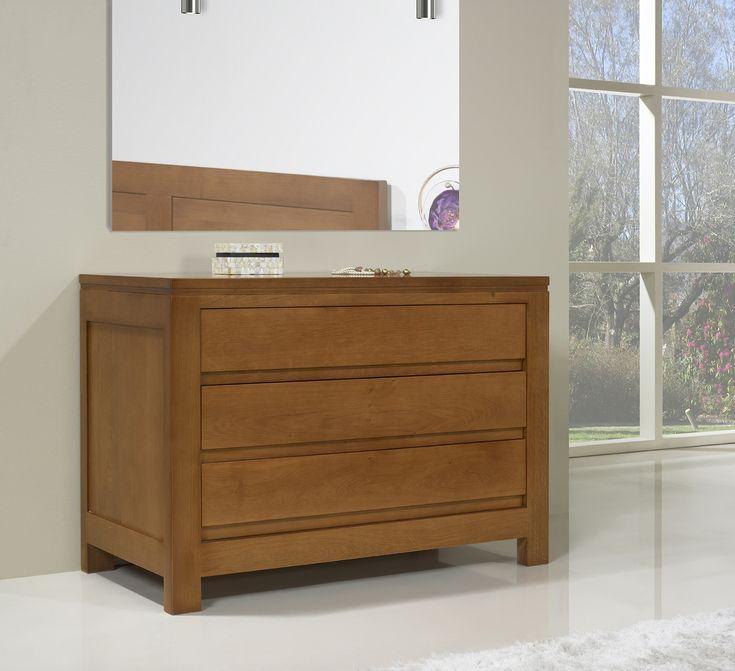 commode 3 tiroirs r alis e en ch ne massif de style. Black Bedroom Furniture Sets. Home Design Ideas