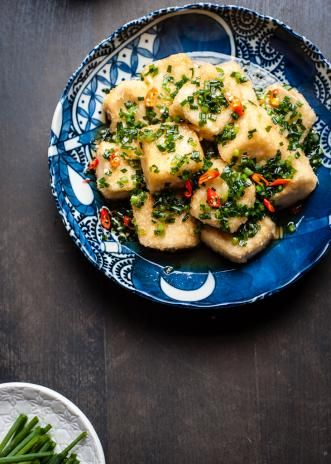 Fried Silken Tofu with Spring Onion Sauce | Rice kitchen