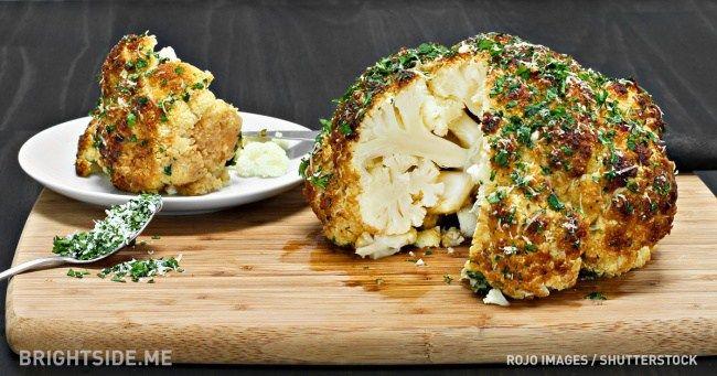 coliflor entero al horno – chispis.com
