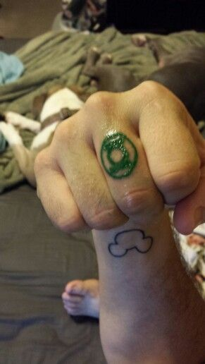 My green lantern tattoo