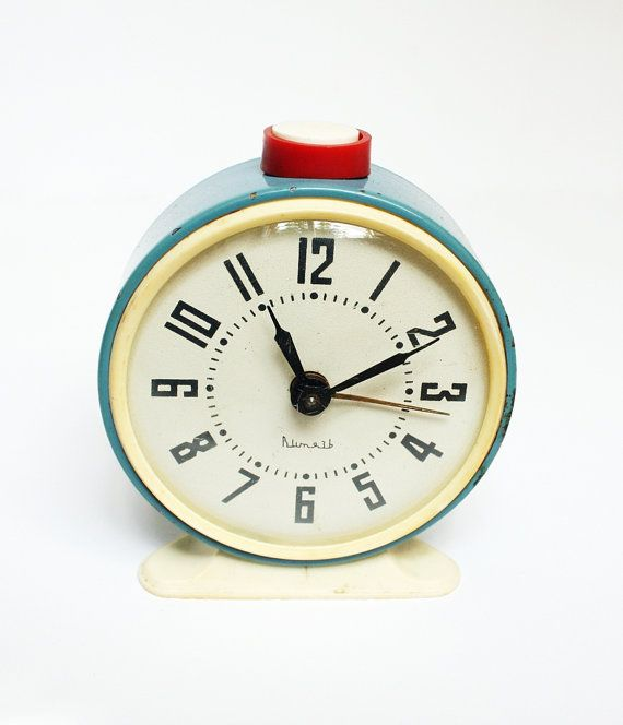 Alarm Clock - Vintage 'Mechanical from Russia Soviet Union' VITJAZ $35USD