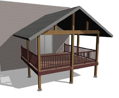 25 best images about adding a gabled porch on pinterest for Hip roof porch plans
