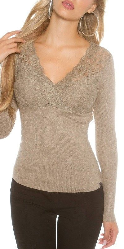 Dámský svetr s krajkou
