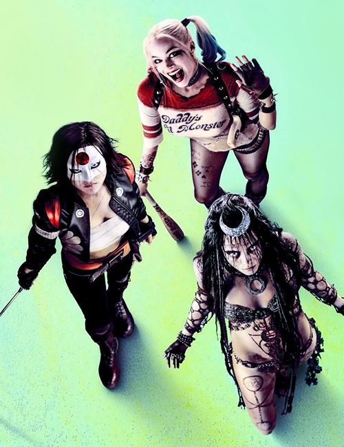 "dcfilms:  Katana, Harley Quinn and Enchantress in the new ""Suicide Squad"" poster"