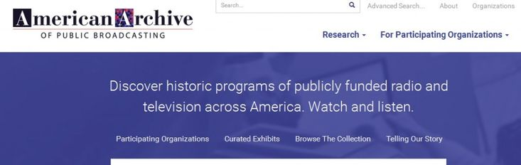 The American Archive of Public Broadcasting is a joint project of the Library of Congress and WGBH in Boston. It has tens of thousands of hours of programming from local public radio and TV station...