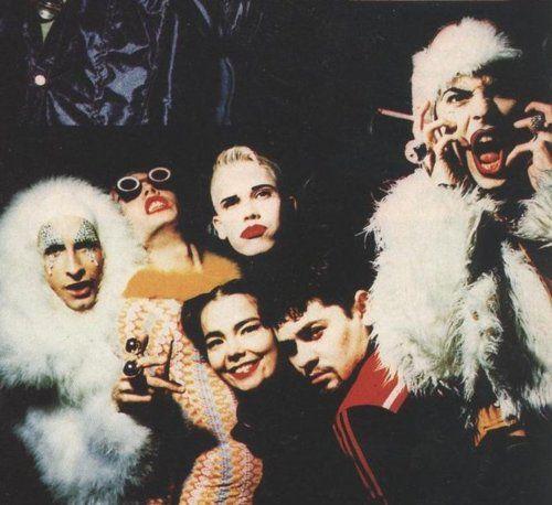 Björk with NYC club kids originals WaltPaper, Kedra, Michael Alig and others - pinned by RokStarroad.com
