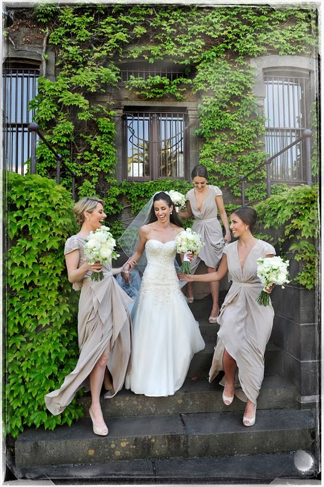 Katya looking beautiful  with her lovely bridesmaids
