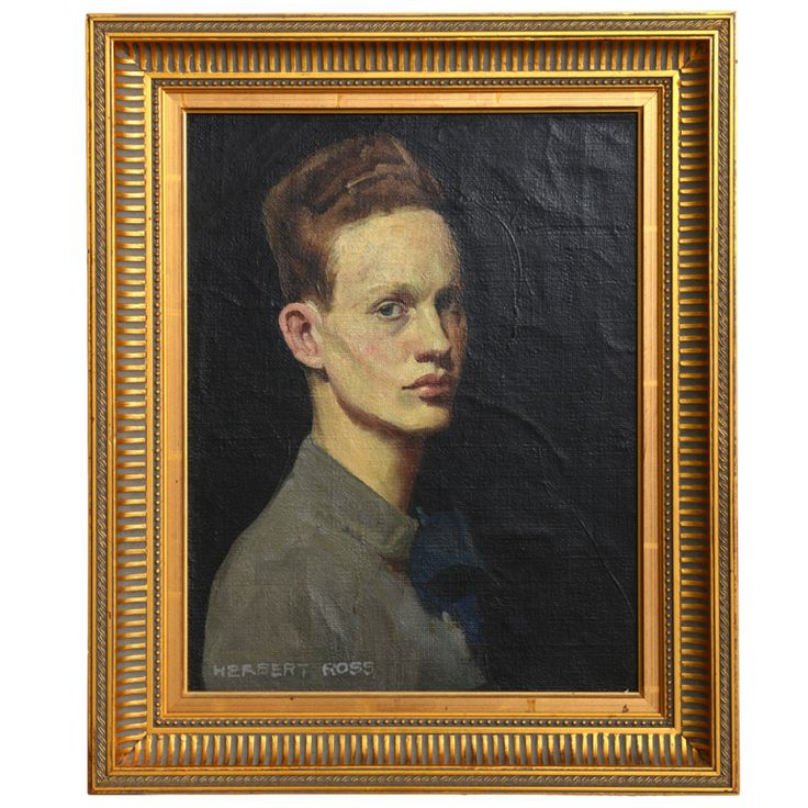 Self Portrait, 1930                                                 Herbert Ross | From a unique collection of antique and modern paintings at http://www.1stdibs.com/furniture/wall-decorations/paintings/