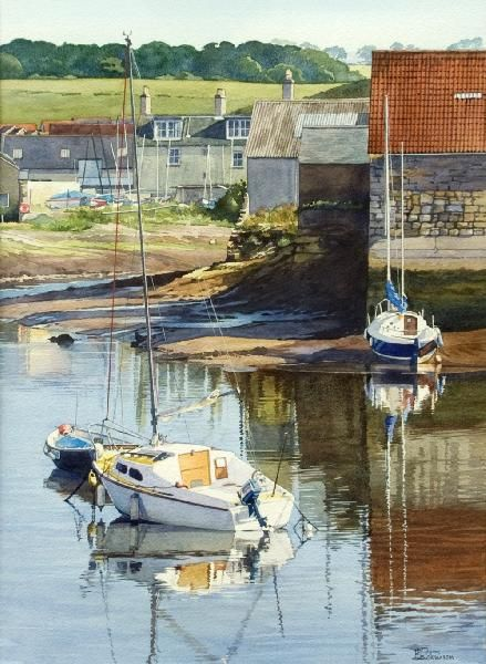 Low Tide at St Andrews (watercolor by Brian Robinson)