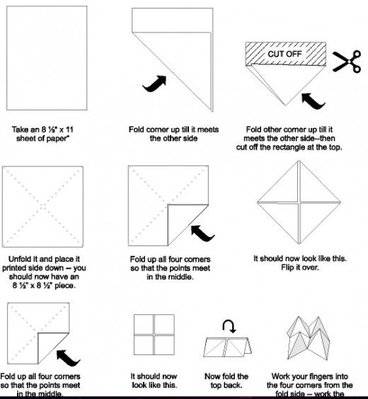 """How to make a """"cootie catcher"""""""
