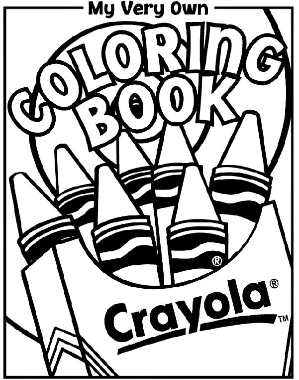 coloring book cover coloring page - My Color Book Printable