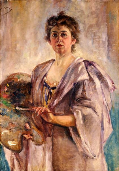 Self-Portrait In Painting Robe; Alice Pike Barney (from American Gallery)