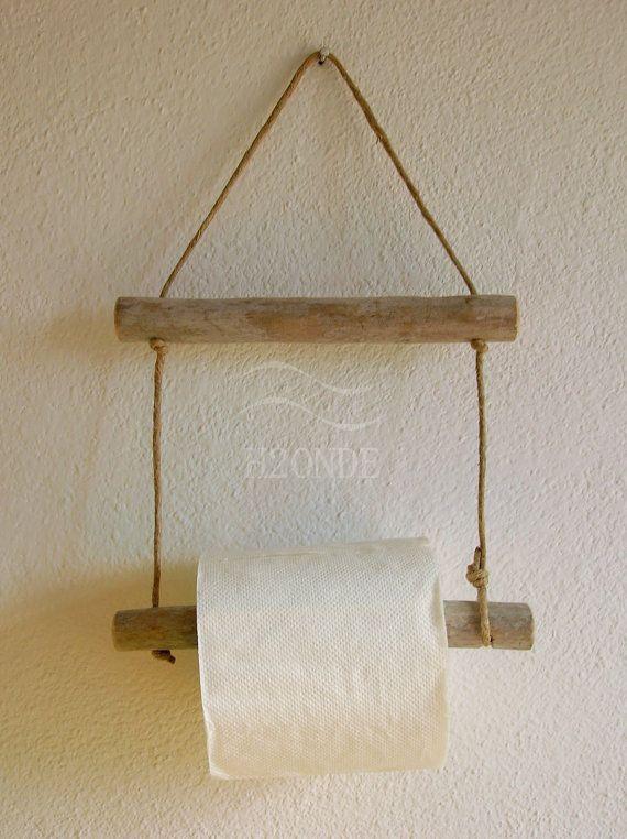 Porta rotolo carta igienica bagno muro parete appeso naturale