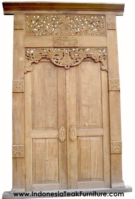 HANDCARVED DOORS FROM JAVA INDONESIA