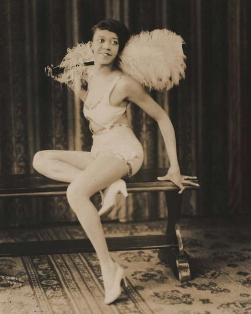 """The actor's real name is not listed but here, she's in character as Clotilde in a vaudeville show called """"We've Got It Co."""" The photograph was taken by Poole Studio, 1922."""