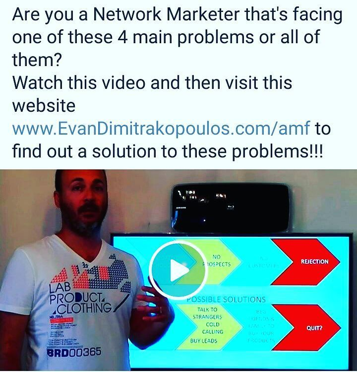 Epic video posted at my FB fan page. If you're fact these problems watch it and you may find your solution.