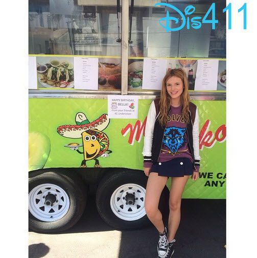 Photo: Bella Thorne Happy About A Nacho Truck On Her Birthday October 8, 2014