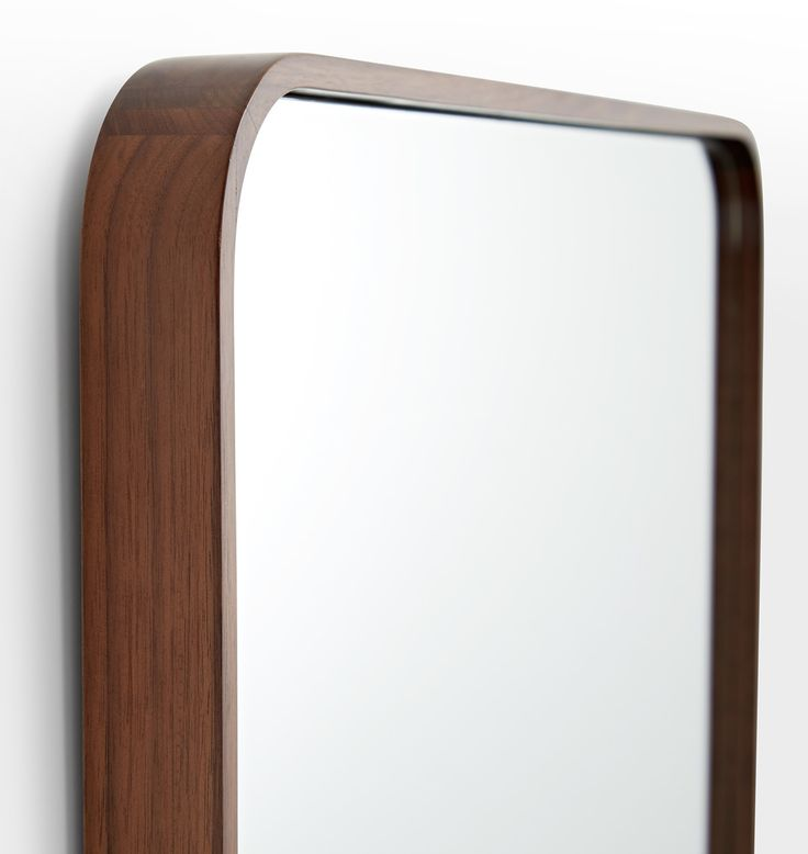 Bentwood Rounded Rectangle Mirror White Oak