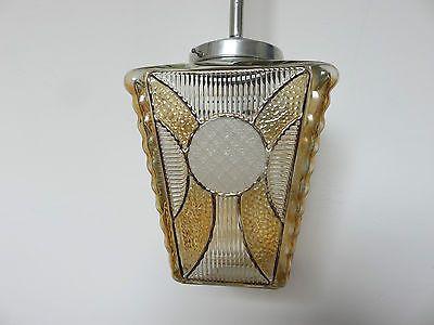 Lampe Lustre Suspension Art Deco Des Annees 30 40 Vintage 3