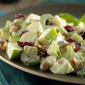 Waldorf Salad-This is a healthy and easy recipe that is low in calories, low fat, low in carbohydrates and low in cholesterol. It is also a Weight Watchers (4) Points+ per serving recipe. Makes 2 servings.